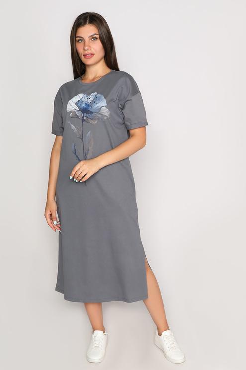 """Платье """"Naturel"""", серый"""